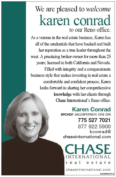 Karen Conrad Realtor Reno  NV Chase International Real Estate