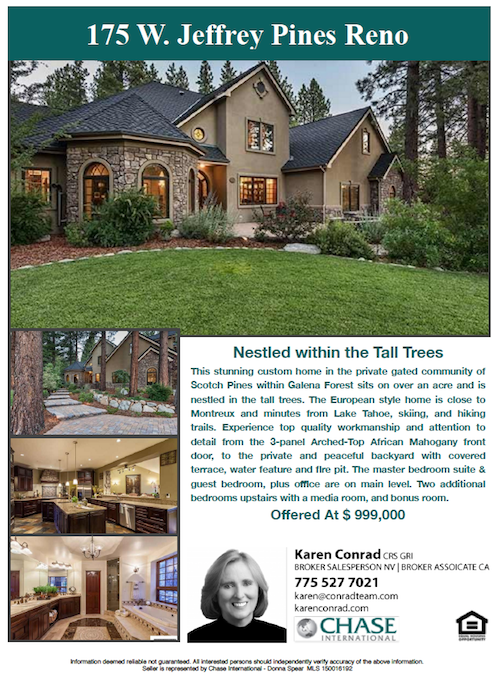 Scotch Pines Homes Karen Conrad Reno NV