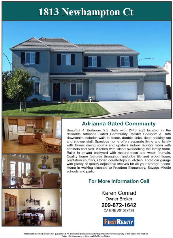 Modesto Home For Sale Karen Conrad